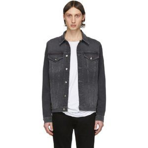 FRAME L'Homme Gray Denim Jean Jacket | Size Small